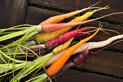coloured carrots