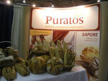 Puratos came to the show with a large booth stocked with delicious products.