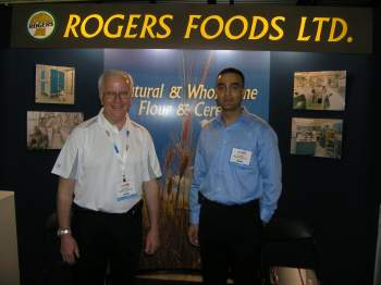 Dan Dobin, left, and Jay Mann of Rogers Foods Ltd.