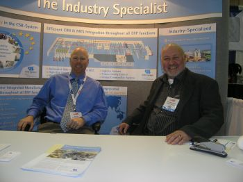 Allan Hills, left, and Terry McCorriston of CSB-System International